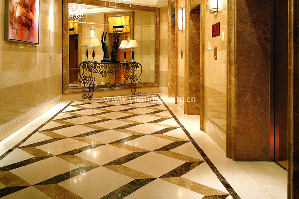 Emperador light marble hotel decoration