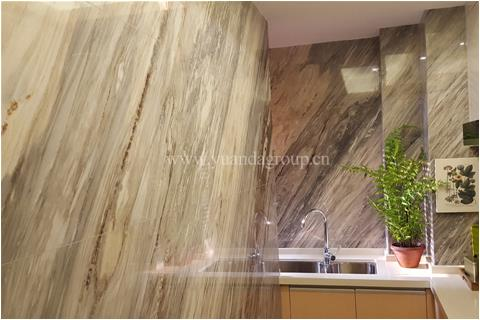 Blue palissandro marble interior decoration project
