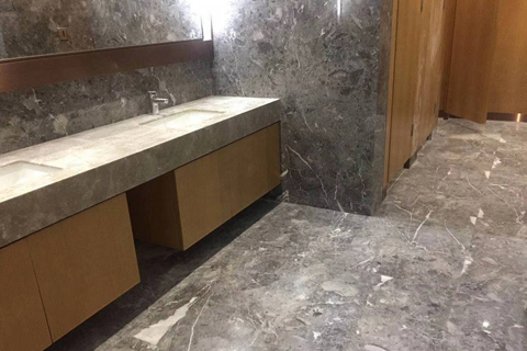 sunny grey marble interior decoration