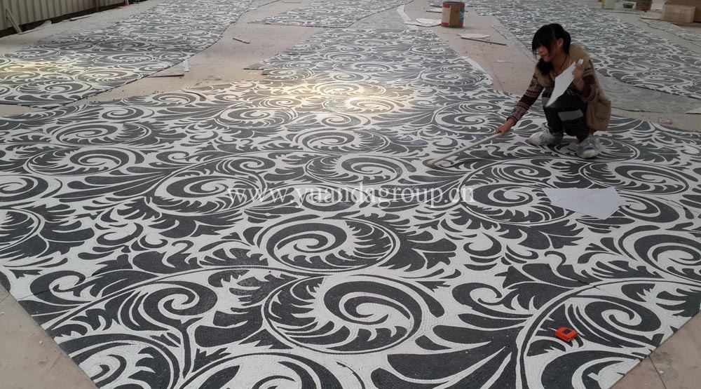 white and black marble mosaic projects from ydstone-1.jpg